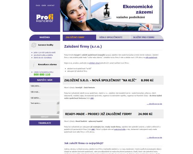 www.profi-kancelar.cz - Zakládání firem